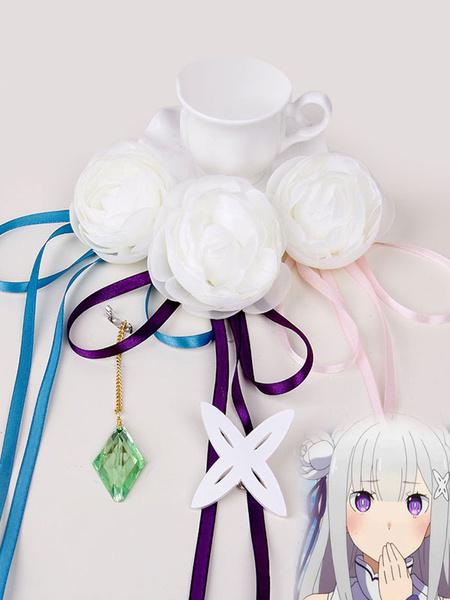 Milanoo Rezero Starting Life In Another World Emilia Halloween Cosplay Headwear