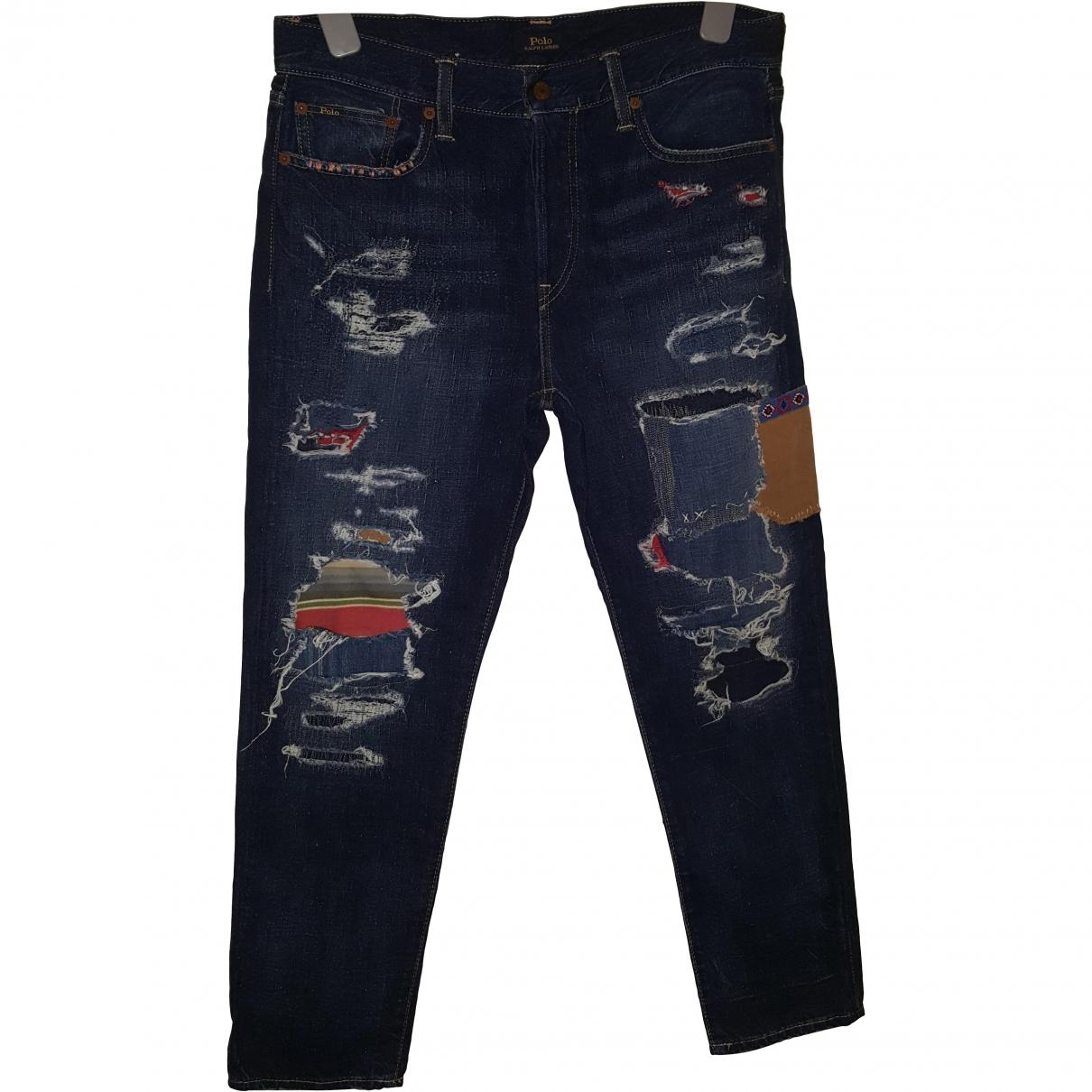 Polo Ralph Lauren \N Blue Cotton Jeans for Women 29 US