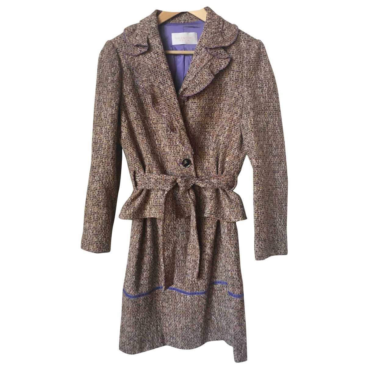 Valentino Garavani \N Camel Tweed skirt for Women 40 FR