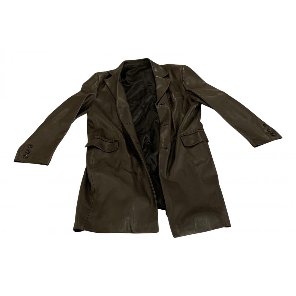 Jitrois \N Black Leather coat  for Men 54 FR