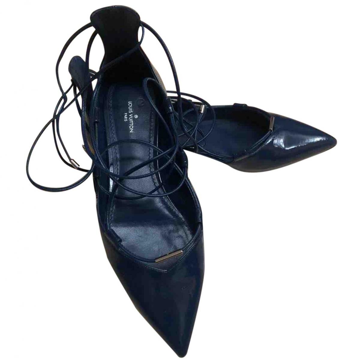 Louis Vuitton \N Blue Patent leather Ballet flats for Women 39.5 EU