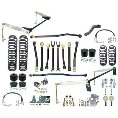 RockJock 4 Inch Off Road Suspension Lift Kit with Rear Antirock Sway Bar - CE-9807JCE