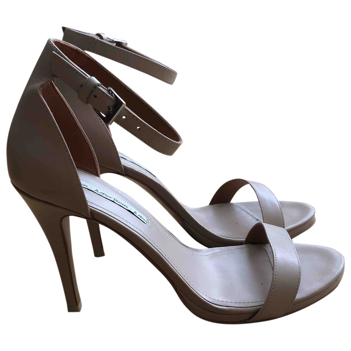 & Stories \N Beige Leather Sandals for Women 41 EU