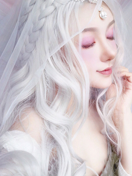 Milanoo Lolita Wig Long Heat Resistant Fiber Lolita Hair Wigs