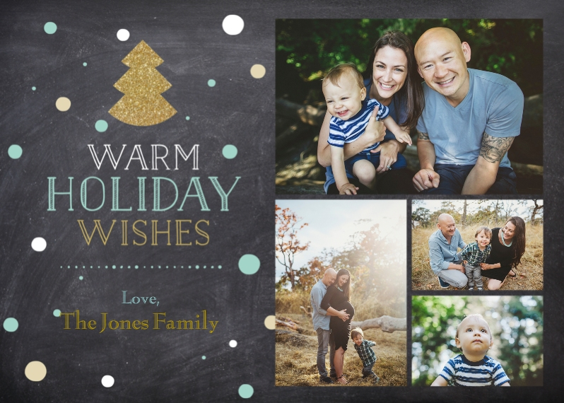 Holiday Photo Cards 5x7 Cards, Standard Cardstock 85lb, Card & Stationery -Joyous Holiday