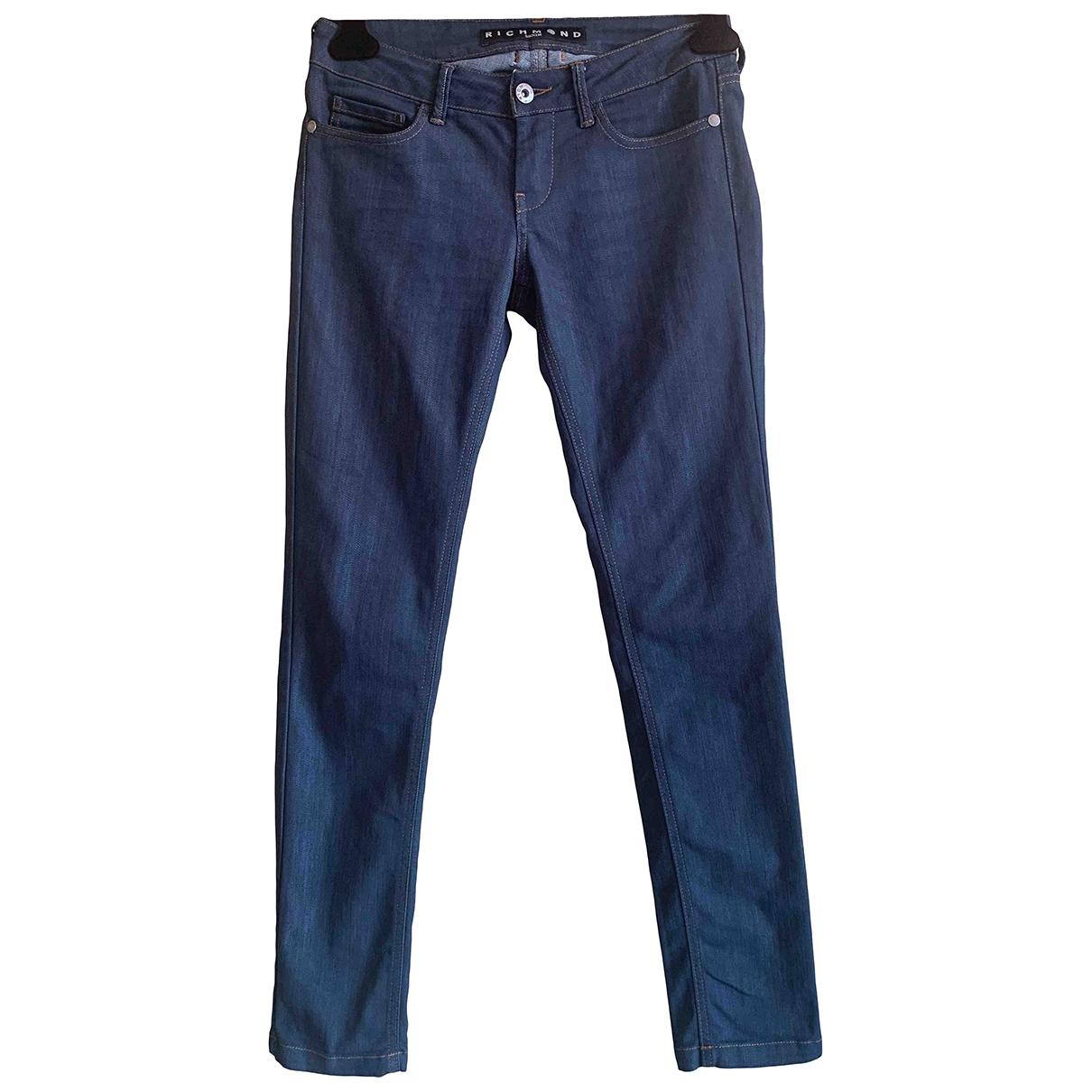 John Richmond \N Blue Denim - Jeans Trousers for Women 40 IT