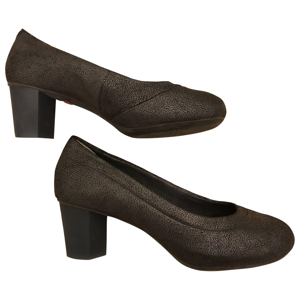 Camper \N Anthracite Leather Heels for Women 37 EU