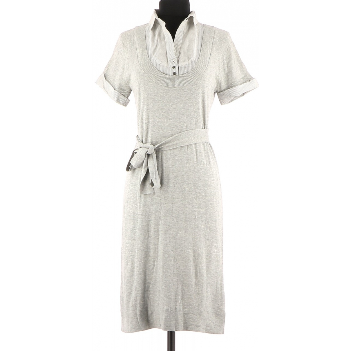 Comptoir Des Cotonniers \N Grey Cotton dress for Women 36 FR