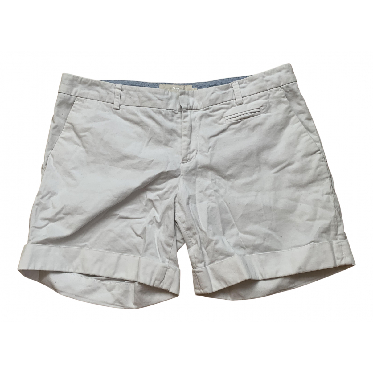 Burberry \N White Cotton Shorts for Women 38 IT