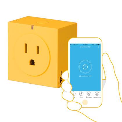 S31 Prise Intelligente WiFi Jaune - Application en temps réel - LivingWise