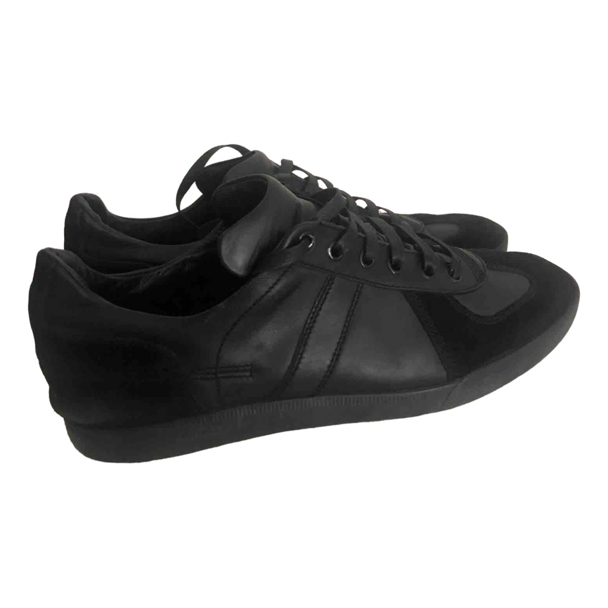 Dior Homme \N Black Leather Trainers for Men 41 IT