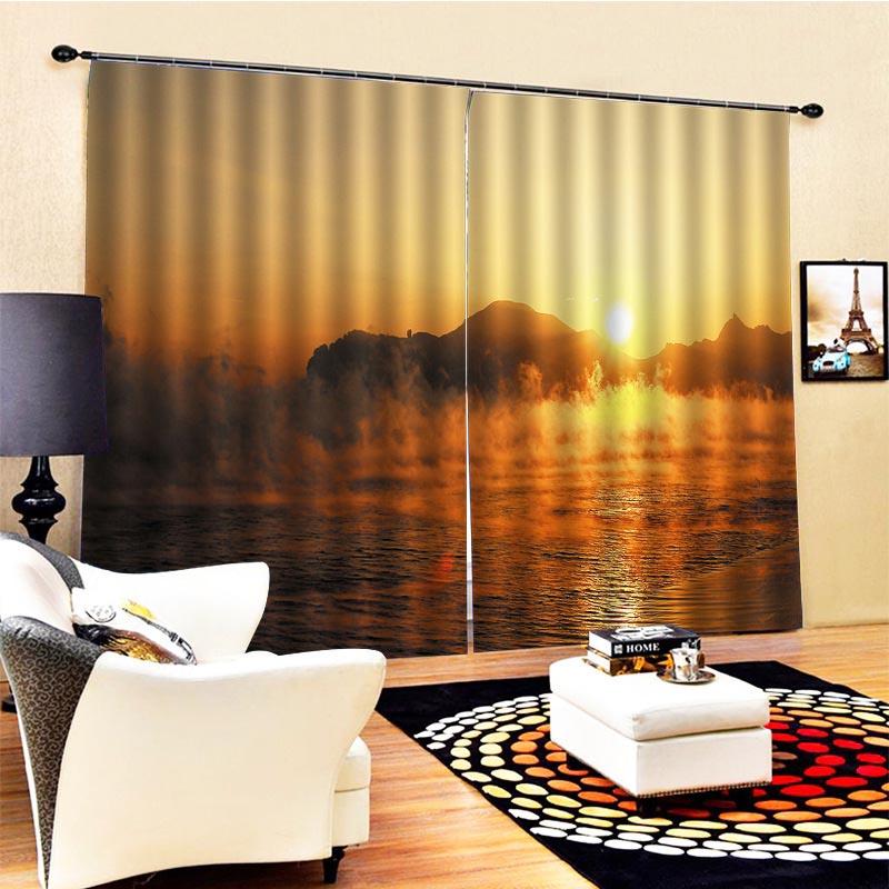 Beddinginn Modern Blackout Landscape Curtains/Window Screens
