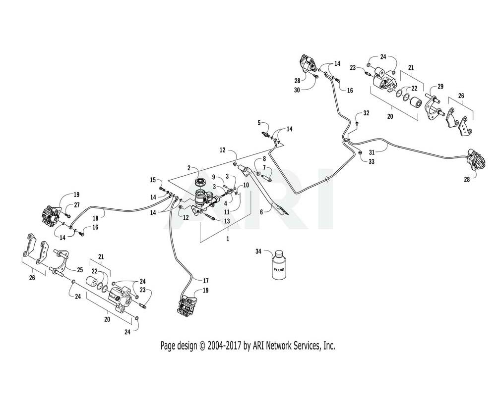Arctic Cat OEM 5639-848 Dot 4 Brake Fluid 12 Oz