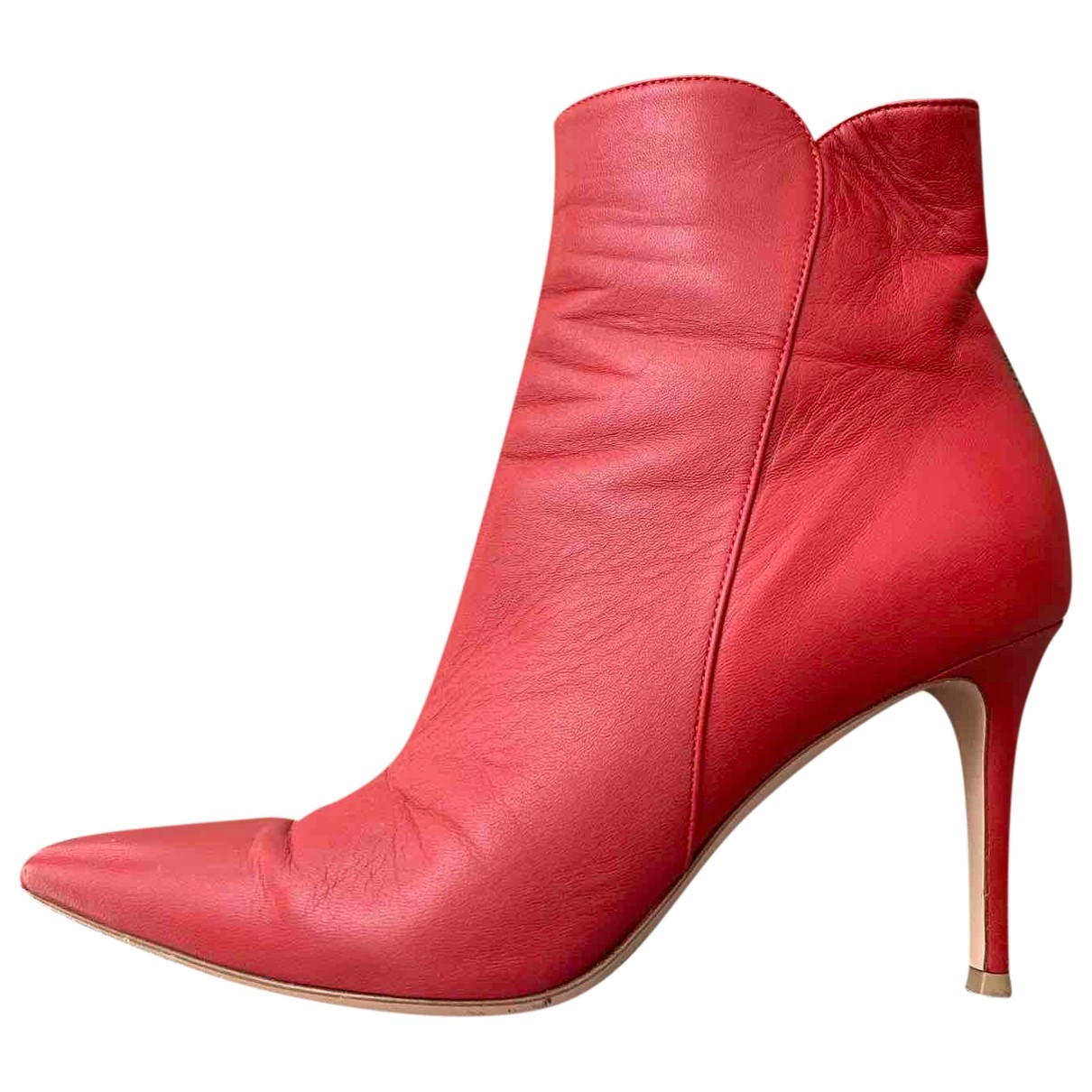 Gianvito Rossi \N Red Leather Ankle boots for Women 39 IT