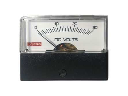 RS PRO Analogue Panel Ammeter DC, 57mm x 44mm, ±1.5 % Moving Coil