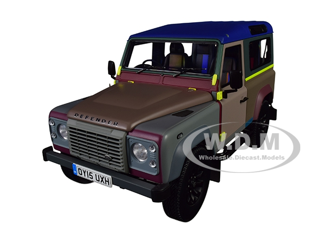 Land Rover Defender 90 Paul Smith Edition 2015 Multicolor 1/18 Diecast Model Car by Almost Real