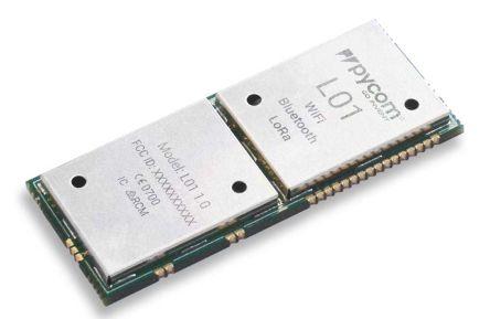 Pycom L01 3.3V BLE/LoRa/WiFi Module, Bluetooth Low Energy (BLE), LoRa, WiFi I2C, I2S, SPI, UART (250)