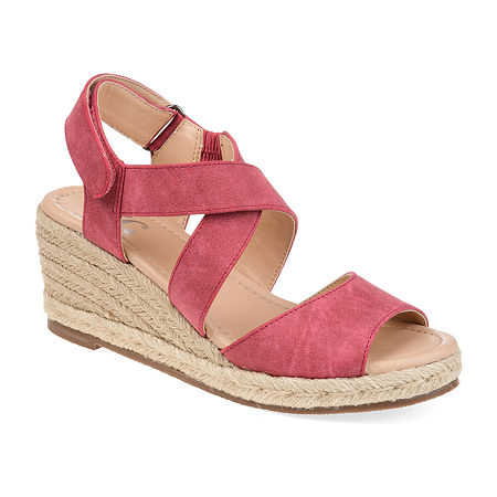 Journee Collection Womens Spencer Pumps Wedge Heel, 7 Medium, Pink