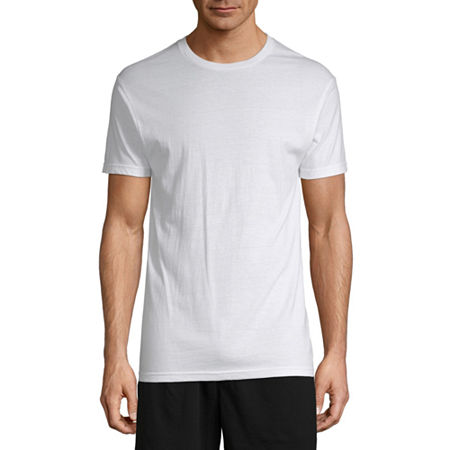 Stafford 4 Pack Dry+Cool Blended Crewneck T-Shirts, Small , White