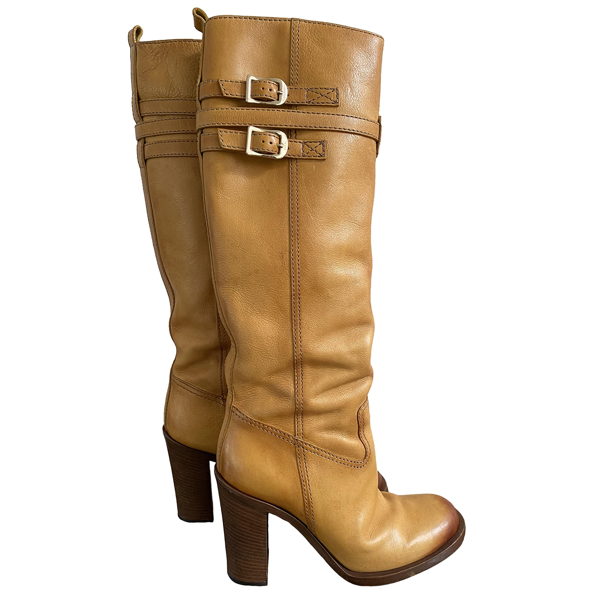 Gucci \N Yellow Leather Boots for Women 39.5 EU