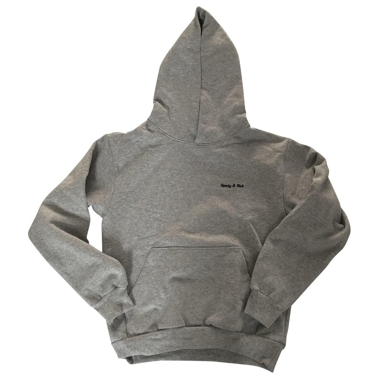 Sporty & Rich \N Grey Cotton Knitwear for Women S International