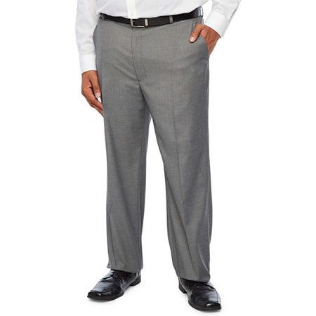 JF J.Ferrar Ultra Comfort Medium Gray Big & Tall Suit Pants, 54 30, Gray
