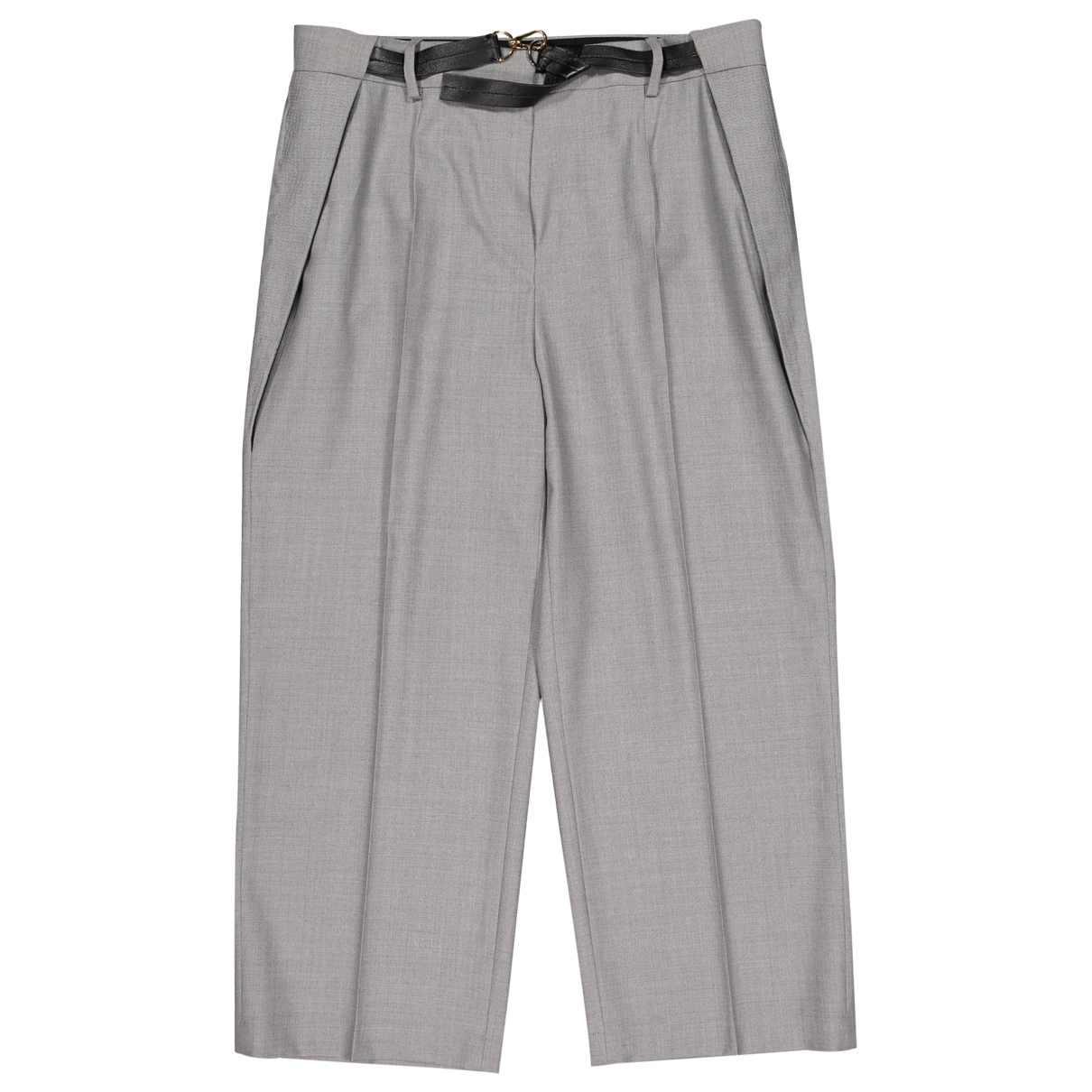 Louis Vuitton \N Grey Wool Trousers for Women 44 FR
