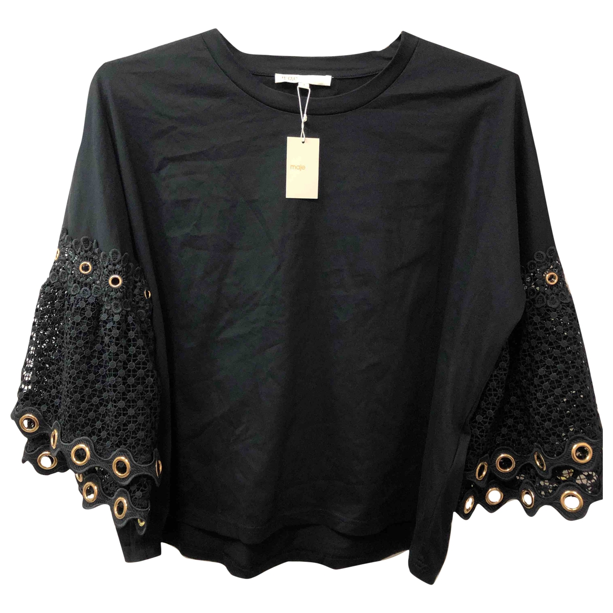 Maje \N Black Cotton  top for Women 2 US