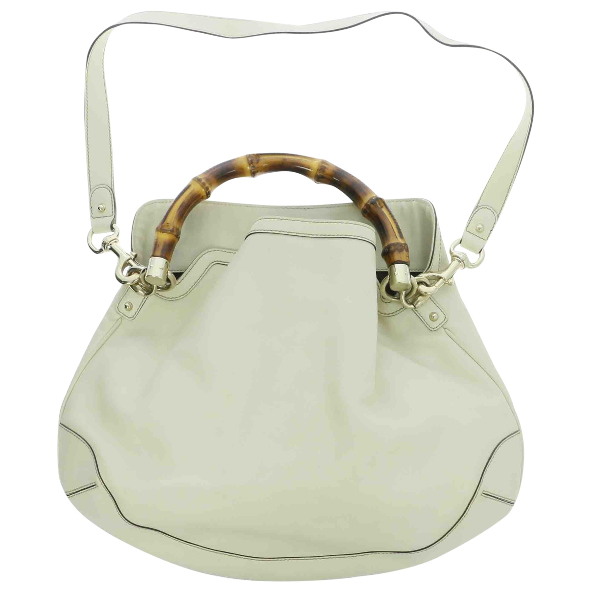 Gucci Bamboo Beige Leather handbag for Women \N