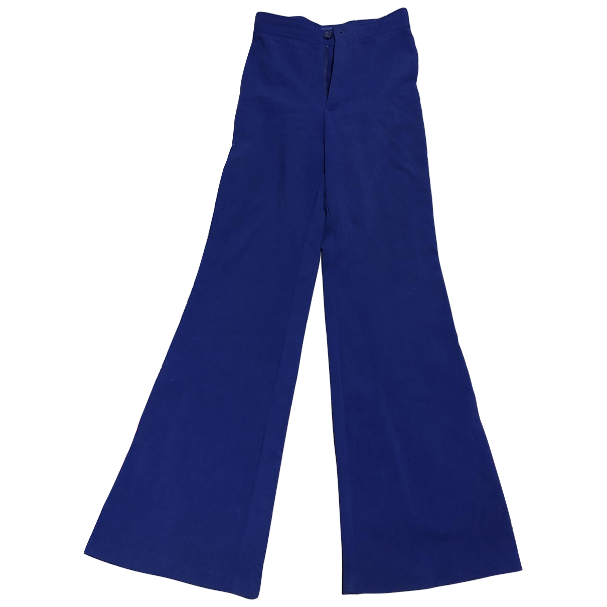 Non Signé / Unsigned \N Blue Trousers for Women 36 FR