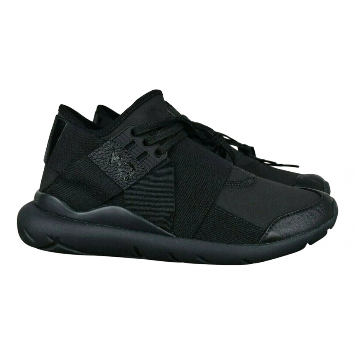 Y-3 \N Black Leather Trainers for Women 37 EU