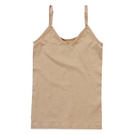 Maidenform Big Girls Round Neck Camisole, X-large , Beige