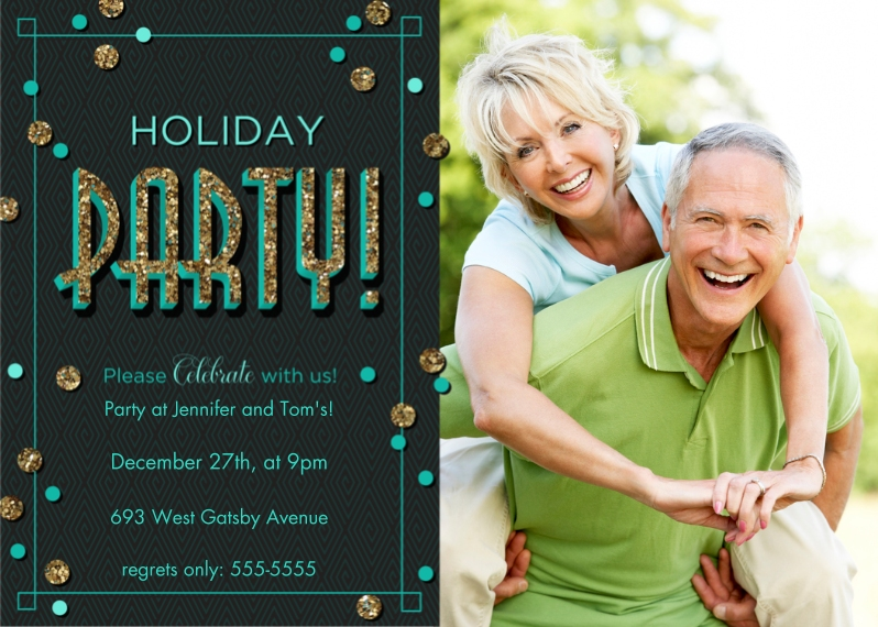 Christmas & Holiday Party Invitations 5x7 Cards, Standard Cardstock 85lb, Card & Stationery -Start the Party!