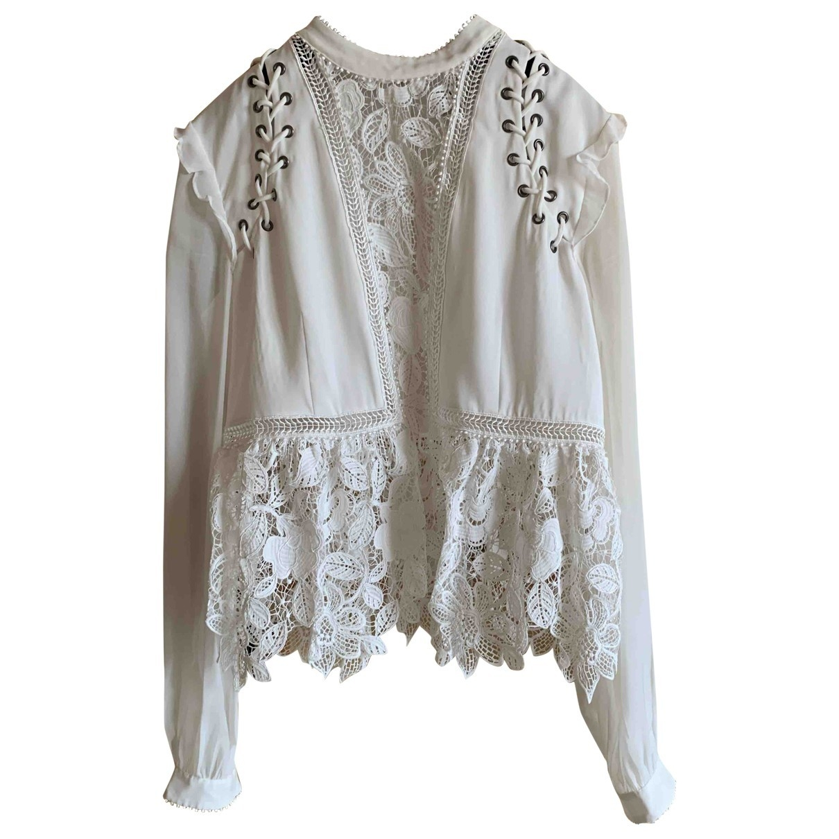 Self Portrait \N White Lace  top for Women 8 US