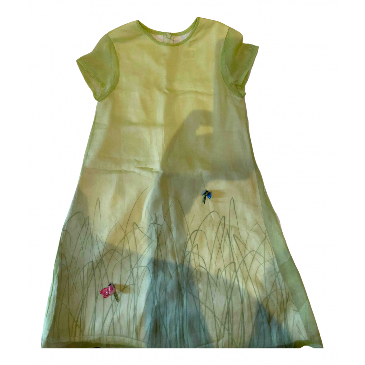 Dior \N Green Silk dress for Kids 8 years - up to 128cm FR