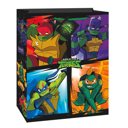Rise of the TMNT Large Gift Bag, 1Pc For Birthday Party
