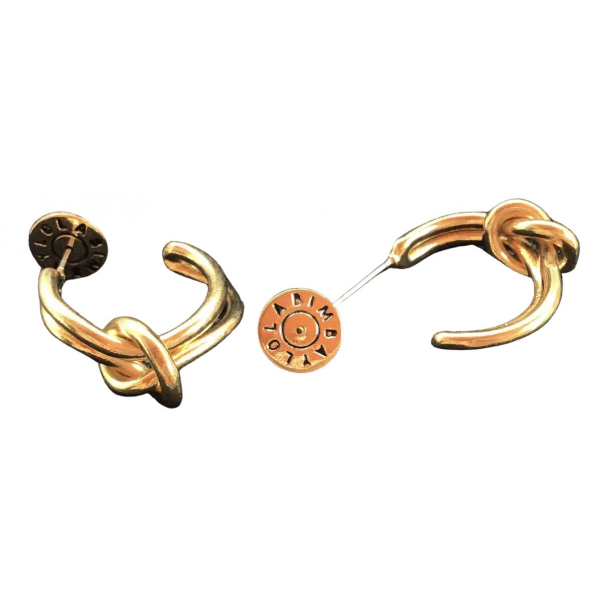 Bimba Y Lola \N Gold Metal Earrings for Women \N