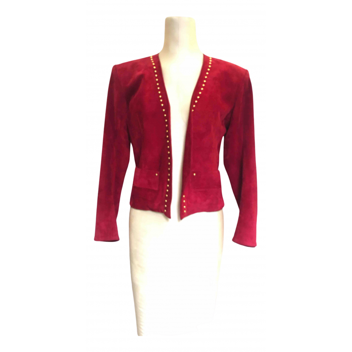 Yves Saint Laurent \N Red Suede Leather jacket for Women 36 FR