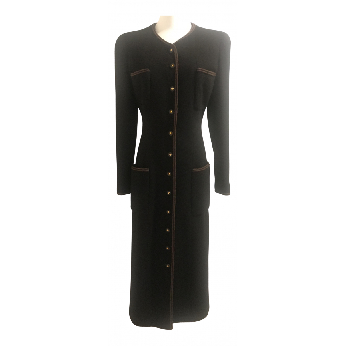Chanel \N Black Wool coat for Women 42 FR