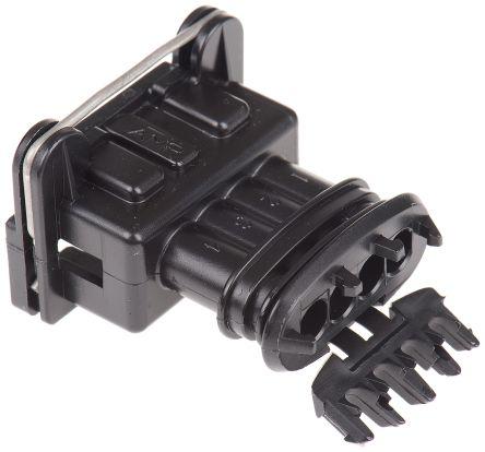 TE Connectivity , Junior Power Timer Automotive Connector Socket 1 Row 4 Way, Black