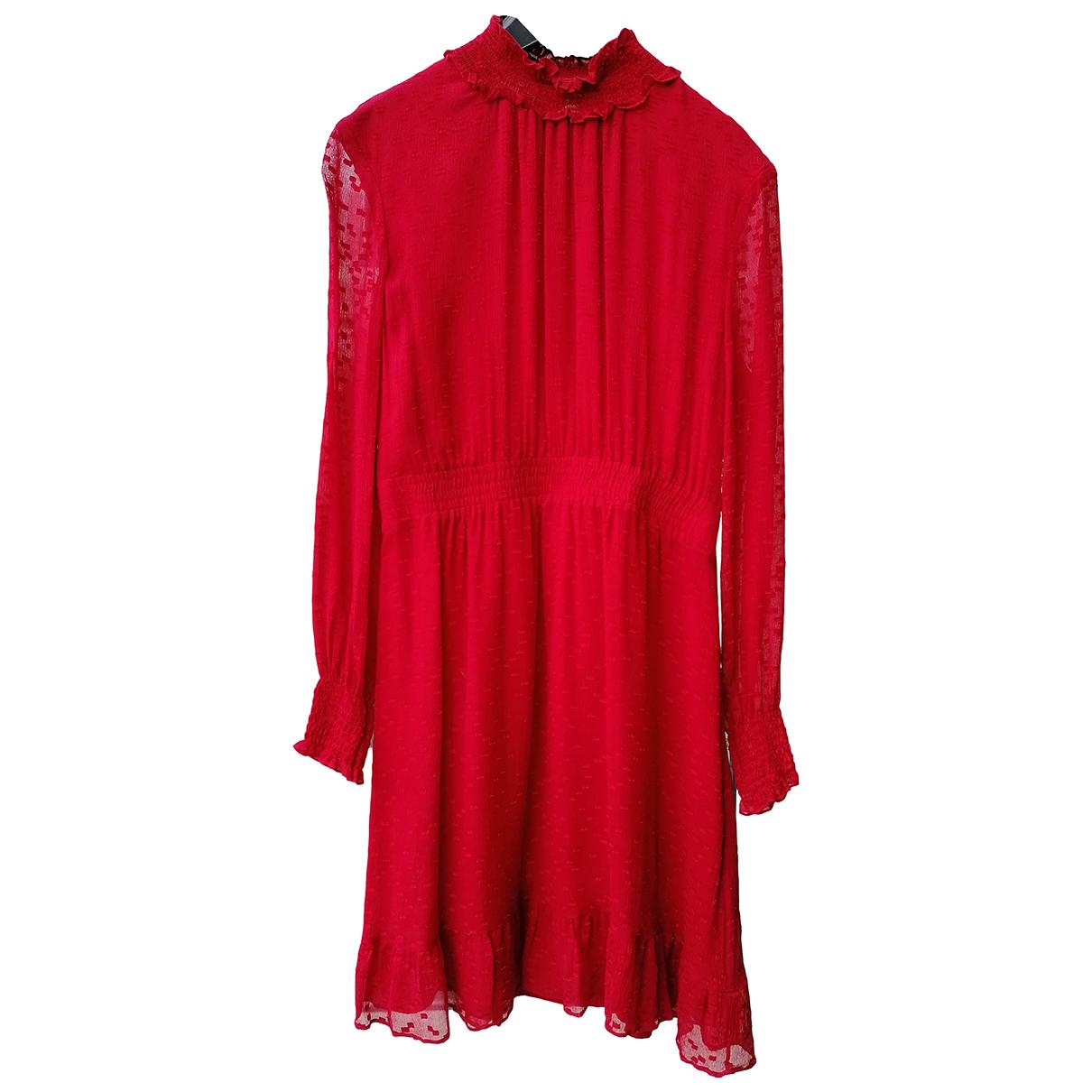 Whistles N Red Silk dress for Women 12 UK