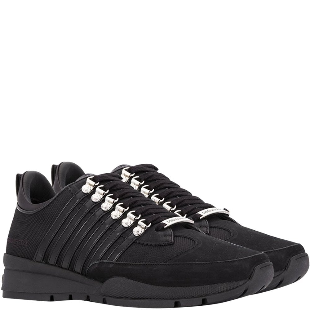 DSquared2 Lace-Up Low-Top Sneakers Colour: BLACK, Size: 8