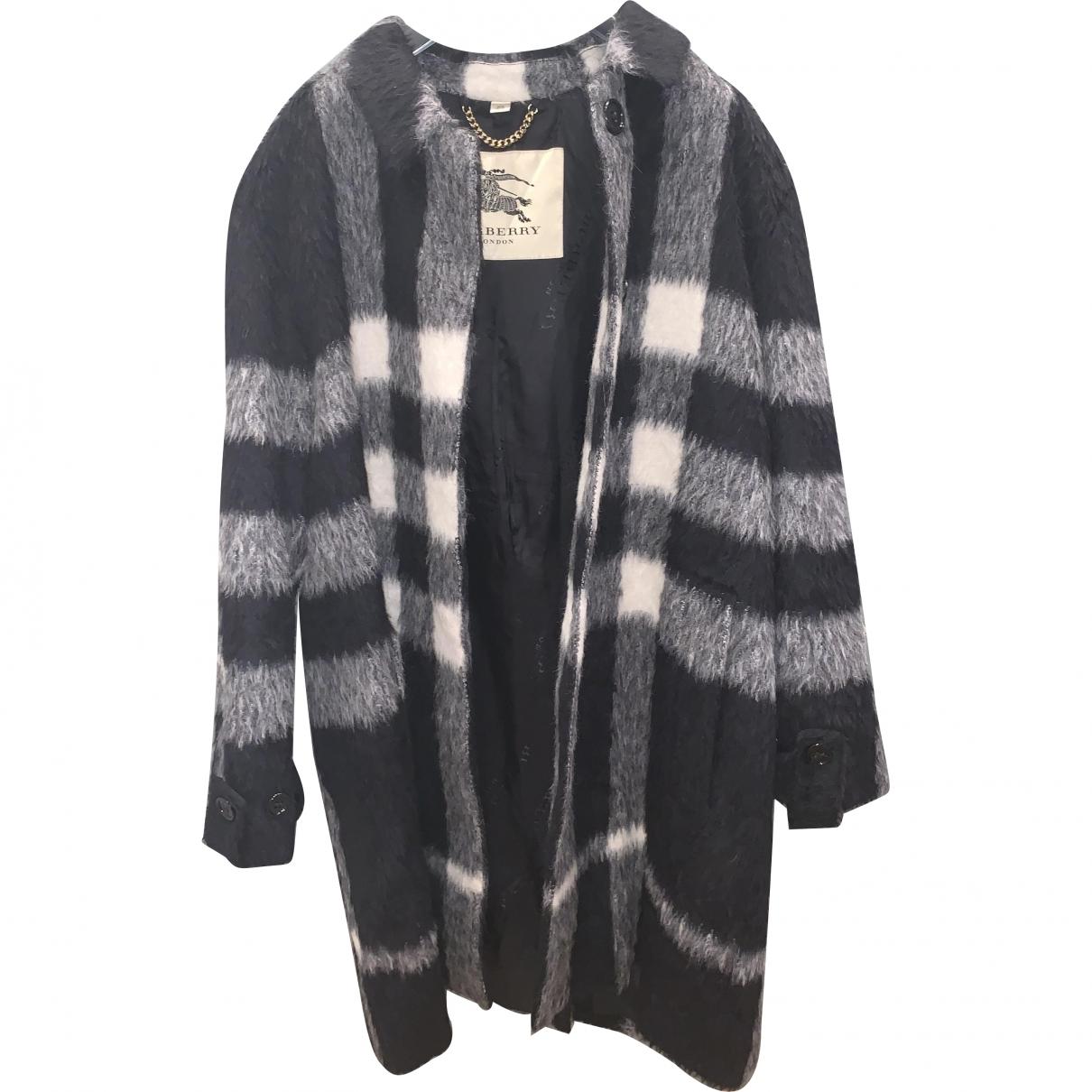 Burberry \N Black Wool coat for Women 48 IT
