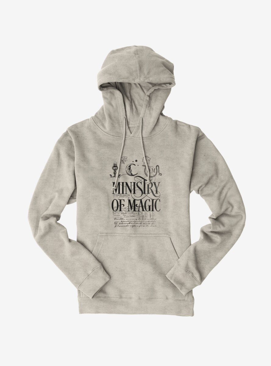 Harry Potter Ministry Of Magic Text Hoodie