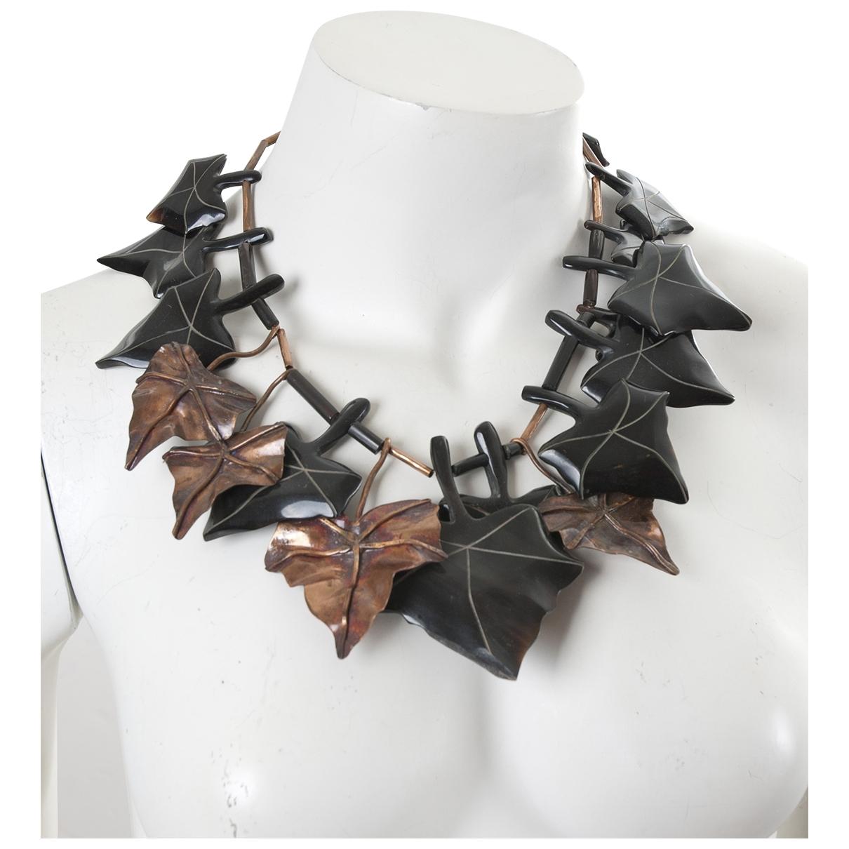 Monies \N Brown Horn Long necklace for Women \N