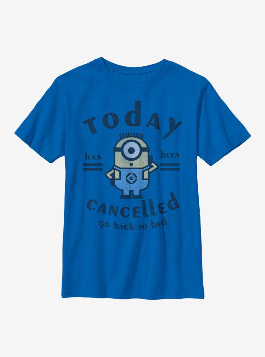 Despicable Me Minions Today Cancelled Youth T-Shirt