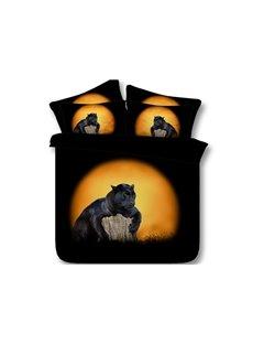 Black Panther Printed 4-Piece 3D Bedding Sets/Duvet Covers