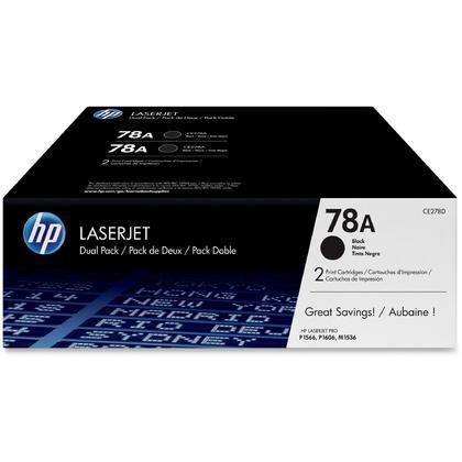 HP LaserJet Pro P1566 original cartouche de toner noir, 2 paquet