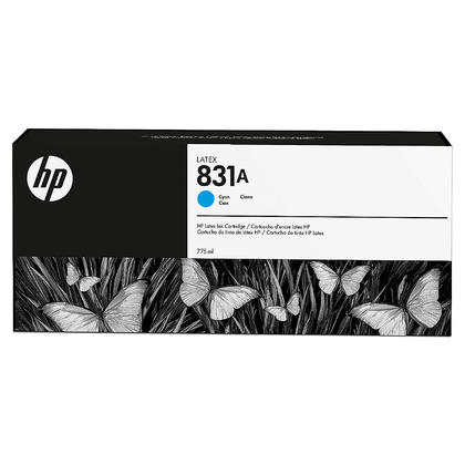 HP 831A CZ683A cartouche d'encre latex cyan originale 775ml