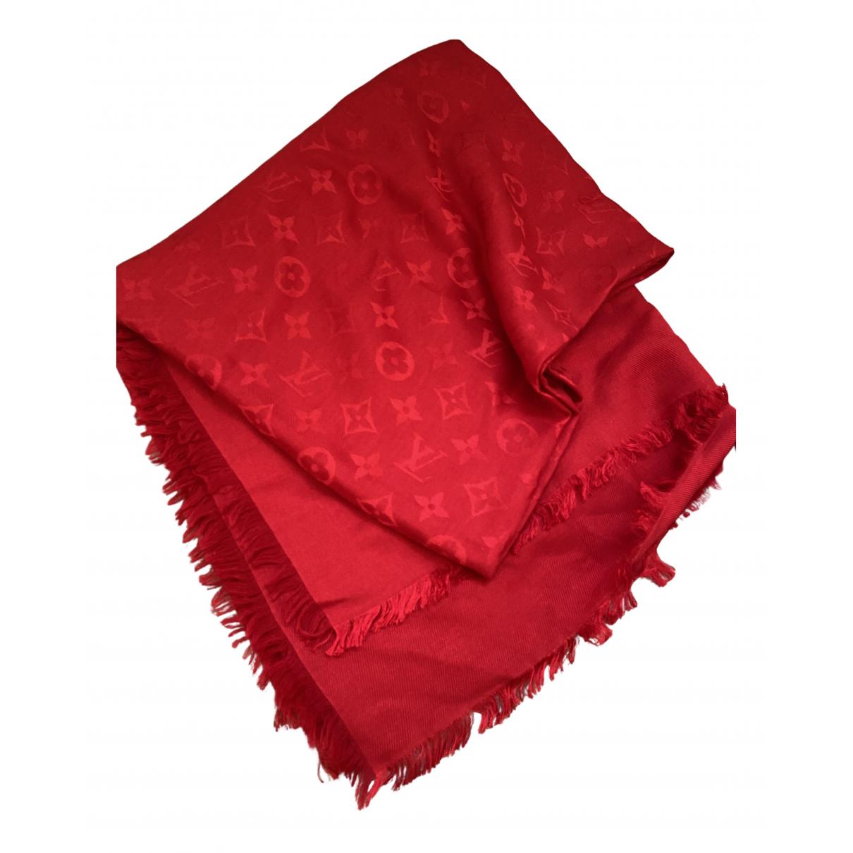 Louis Vuitton Châle Monogram Red Silk scarf for Women \N
